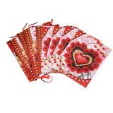 Пакеты подарочные пвх Сердце розы УПАКОВКА 12шт (1шт=16р, 24*18*7 см)