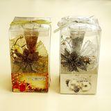 Свеча стекло/гель Candles gifts подарочное оформление 16*9*9 см (2вида)