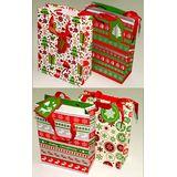 Пакет подарочный новогодний 18*24*8см 4вида (1уп-12шт)1шт No.8170S-1