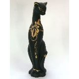 Багира наклоненная роспись керамика 22см