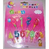 Н-р свечей цифр 0-9 ко дню рождения (1уп-24наб)1наб