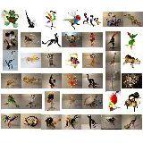 Фигурка  из цветного стекла 20-200мм в ассортименте (более 60 видов)