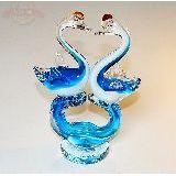 Лебеди пара стекло цветное 20*14см