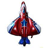 Шар фольга (с клапаном) Самолет красный 90*87см