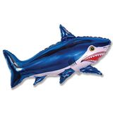 Шар фольга (с клапаном) Акула 80*47 см