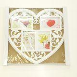 Н-р из 4-х рамок  д/ф пластик Сердце white (габариты 45*40см)