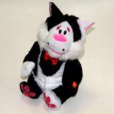 Черный кот в смокинге Ловелас 6 песен ! (поет,танцует) на бат. 30см б/б